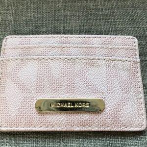 Michael Kors Bags - 1 HR SALE Michael Kors Pink ID Wallet